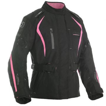 Oxford Dakota Women's Waterproof Textile Motorcycle Jacket Black & Pink